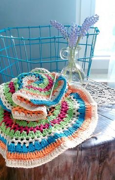 crochet, boho pillows in progress