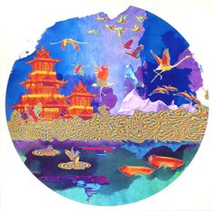 Jacky Tsai - Petrol Rainbow (Shanghai Tang series) on www.eyestorm.com