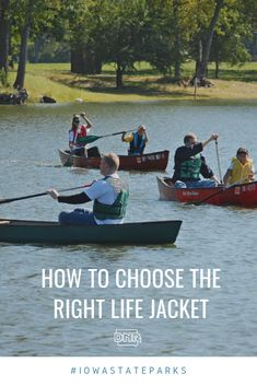 Life jackets are a must for water safety but finding the right fit can be tricky. Heres some helpful tips in finding the right life jacket for you and your family Iowa State, State Parks, Life Jackets, Water Safety, Choose The Right, Boating Outfit, Coast Guard, New Tricks, Paddle Boarding