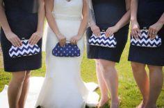 Nautical Clutches #wedding #nautical #navy #white