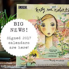 Friends, we're back with Lang for our 2017 calendars and I couldn't be happier. The gorgeous gift envelope is back, the embossed linen paper is back, and the beautiful full-color pages are back. They're up in the shop (kellyraeroberts.com/shop), and we have very limited quantities! Each comes signed by me! Grab yours today!  International friends, the online retailer Garden Gallery offers the full suite of 2017 dated products and is happy to provide international shipping! Email them at…