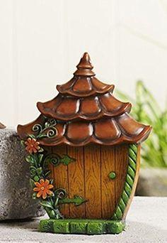 Giftcraft Miniature Garden Woodland Fairy Gnome Door - Flowers