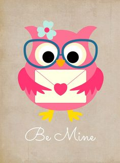 Free Valentines Owl Printables from Glues To My Crafts