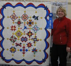Victory quilt & ribbon