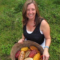 Basket of pods - Ecuador