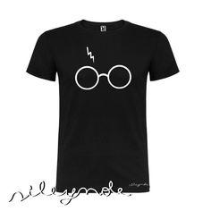 Camiseta unisex. Harry Potter t-shirts. Custom. Personalizada. Algodón. Camiseta original. Vinilo textil. Sile y nole. Gafas de Sileynole en Etsy