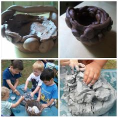 exploring with natural clay