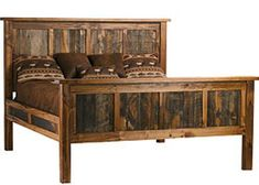 Log Cabin Rustics offers one of the largest selections of log furniture, reclaimed barn wood furniture, and other rustic furniture and cabin decor anywhere. Handcrafted, affordable discount sale prices and proudly made in America. Reclaimed Wood Beds, Rustic Wood Furniture, Cabin Furniture, Pallet Furniture, Bedroom Furniture, Furniture Plans, Barnwood Beds, Building Furniture, Furniture Storage