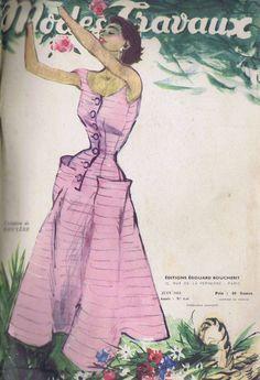 VINTAGE 1950s PARIS Pattern Catalog Book MODES et TRAVAUX MANGUIN DE RAUCH DIOR