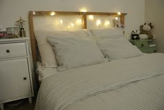 Wood bed and lights. HaM Home