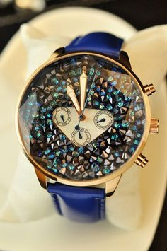 love the blue strap #watches #style #fashion