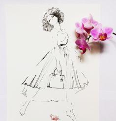 dior fashion illustration by Wioleta Bąbol