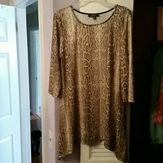 Top Snake print, side tail tunic lbisse Tops Tunics