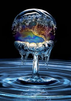 water and globe
