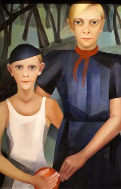 Kate Diehn-Bitt, Selbstporträt mit Sohn  Selfportrait with son (1933)