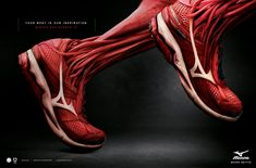 Your body is our inspiration. Mizuno Pro Runner. Advertising Agency: Talent, Sao Paulo. Now this print ad is gripping!