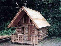 DIY log cabin for kiddos