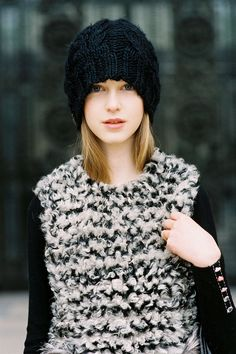 #JemmaBaines and her beanie/curly furry moment. Paris. #VanessaJackman
