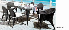 rectangle garden rattan table and chair www.facebook.com/pages/Foshan-Fantastic-Furniture-CoLtd                                                         www.ftc-furniture.com