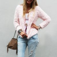 Pink Teddy Fashion Looks, Vest, Sweaters, Pink, Outfits, Fashion Styles, Suits, Sweater, Pink Hair