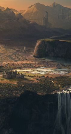 Mickaël Forrett's matte painting for Horizon