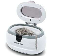 Magnasonic Professional Ultrasonic Polishing Jewelry Cleaner Machine for Cleaning Eyeglasses Watches Rings Necklaces Coins Razors Dentures Combs Tools Parts Instruments Clean Gold Jewelry, Keep Jewelry, Body Jewelry, Silver Jewelry, Fine Jewelry, Silver Ring, Jewelry Logo, Gold Jewellery, Silver Bracelets