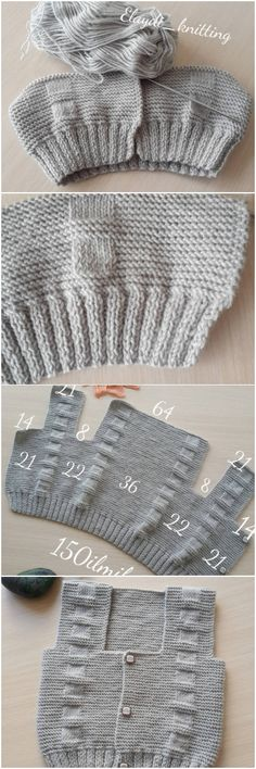 How To Make Hooded Baby Cardigan – Knitting And We Baby Boy Knitting Patterns, Knitting Designs, Knit Patterns, Hand Knitting, Crochet Baby, Knit Crochet, Knitted Baby Cardigan, Baby Sweaters, Baby Dress