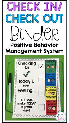 Check In/ Check Out Binder: Positive Behavior Management System Positive Behavior Management, Behavior Management System, Classroom Management, Behavior Tracking, Social Behavior, Elementary School Counseling, School Social Work, School Counselor, Group Counseling