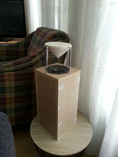 Probeersel omnidirectionele breedband speaker. I Used toiletpaperholders from The Action for € 2,- a piece.