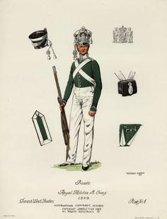 Danish; Danish West Indies, Royal Militia of St. Croix 1829