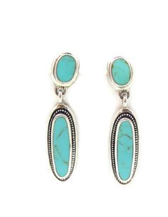 925 Sterling Silver Turquoise Earrings Drop Style Mexican Jewelry Western Earrings Designer Signed Vintage Mexico 925 Turquoise Slim by TreasureTrovebyTish on Etsy