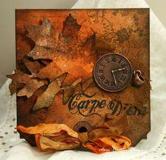 Anne Kristine - Sizzix Tattered Leaves die http://annespaperfun-aksh.blogspot.com/2012/10/carpe-diem.html#