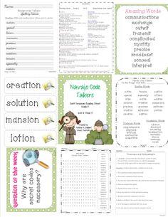Navajo Code Talkers - 4th Grade - Tri folds + Activities | Code ...
