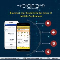 Prana Softwares is a software development company that offers you custom software solutions for enterprises. Discuss your software requirements with the expert. Android Application Development, Software Development, Innovation Strategy, Mobile Applications, Mobile Technology, Blockchain Technology, Financial Institutions, Digital Marketing Strategy, Business Goals