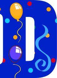 Image du Blog toutlalphabet2.centerblog.net Printable Alphabet Letters, Alphabet And Numbers, Letter K, Different Fonts, Letter Balloons, Stencils, Banner, Happy Birthday, Scrapbook