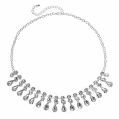 Candie's Simulated Crystal Bib Necklace
