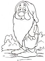 Kids Under 7: Snow White and the Seven Dwarfs Coloring Pages