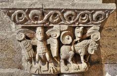 Capitel de la iglesia de San Claudio de Olivares - Arquería del muro norte del presbiterio