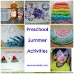 Kids Frugal Fun:  Preschool Summer Activities