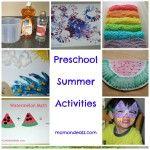 Kids Frugal Fun:  Preschool Summer Activities