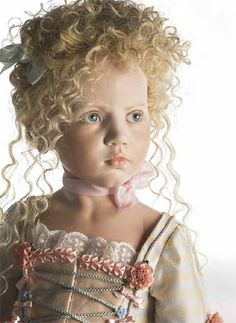 hildegard gunzel beautiful collectible museum porcelain wax Antoinnette Dolls
