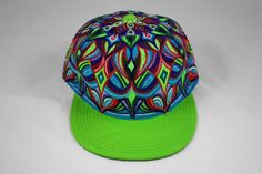 Hand Painted Mandala Snapback Hat Custom Hand by MANIKapparel Painted Hats, Hand Painted, Cool Hats, Snapback Hats, Hats For Men, Mandala, Cap, Trending Outfits, Unique Jewelry