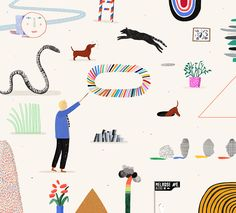 """It's Nice That   Rose Blake on her """"dream project"""": creating a David Hockney activity book"""