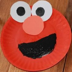 Paper plate clifford craft for kids big red dog red dog for Elmo arts and crafts