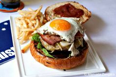 #burder + egg + #fries