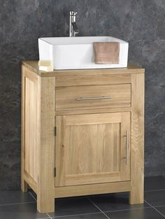 60 X 50 X 80 Alta Solid Oak Single Door Bathroom Basin Cabinet 399 Basin