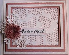 Hello there my crafty friends! Today's card giveaway is a relatively simple card, but pretty nonetheless! I started with a piece of coconut white card and used the decorative die from the Laced Hear