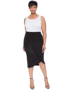 Eloquii | Draped Wrap Skirt