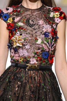 Zuhair Murad Fall 2012 colorful couture details