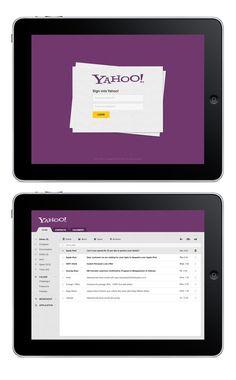 upcoming yahoo mail ipad app application 2013.